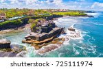 tanah lot   temple in the ocean.... | Shutterstock . vector #725111974