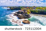 tanah lot   temple in the ocean.... | Shutterstock . vector #725112004