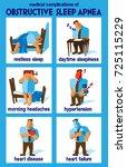 obstructive sleep apnea medical ... | Shutterstock .eps vector #725115229