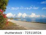 dunedin causeway connected to... | Shutterstock . vector #725118526