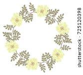 isolated round vector wreath... | Shutterstock .eps vector #725120398