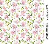 romantic watercolor summer... | Shutterstock . vector #725120596