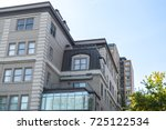 modern condo buildings with... | Shutterstock . vector #725122534