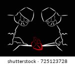 isolated on a black background...   Shutterstock .eps vector #725123728