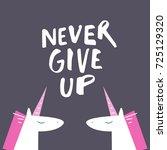 vector unicorns  inscription ... | Shutterstock .eps vector #725129320
