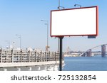 empty big advertising banner... | Shutterstock . vector #725132854