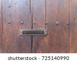 old letterbox in the door ... | Shutterstock . vector #725140990