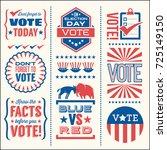 set of patriotic design...   Shutterstock .eps vector #725149150