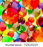 Bright Multi Coloured Spheres...