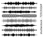 abstract sound waves audio... | Shutterstock .eps vector #725153269
