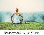 asian women relax in the... | Shutterstock . vector #725158444