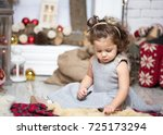 little girl having fun in... | Shutterstock . vector #725173294