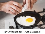 a man cook in a nice apron... | Shutterstock . vector #725188066
