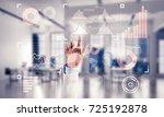 hand of businesswoman working... | Shutterstock . vector #725192878