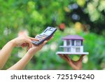 mortgage calculator ... | Shutterstock . vector #725194240