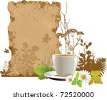 cup with tea.  all elements and ... | Shutterstock .eps vector #72520000