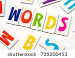 word words made of colorful...   Shutterstock . vector #725200453