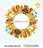 bangalore skyline with color... | Shutterstock . vector #725201044
