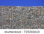 gabion retaining wall blocks... | Shutterstock . vector #725202613