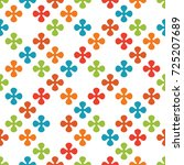 abstract geometric seamless... | Shutterstock . vector #725207689
