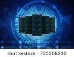 3d rendering database storage... | Shutterstock . vector #725208310