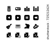 miscellaneous music icon set | Shutterstock .eps vector #725212624
