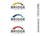 bridge logo design | Shutterstock .eps vector #725213980