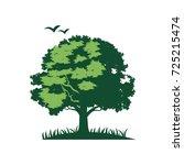 oak tree logo vector | Shutterstock .eps vector #725215474