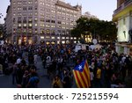 barcelona  20 09 2017 people go ... | Shutterstock . vector #725215594