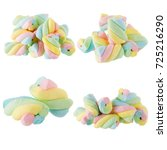 fluffy colorful marshmallow...   Shutterstock . vector #725216290