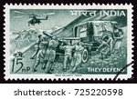india   circa 1963  a stamp... | Shutterstock . vector #725220598
