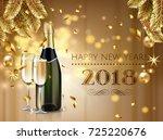 celebration cheers happy new... | Shutterstock .eps vector #725220676