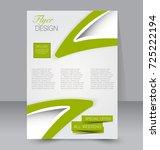 green vector flyer  brochure ... | Shutterstock .eps vector #725222194