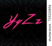 80s retro futuristic font.... | Shutterstock .eps vector #725223856