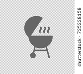 grill vector icon eps 10. meat... | Shutterstock .eps vector #725228158