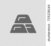 gold bricks vector icon eps 10. ... | Shutterstock .eps vector #725228164