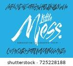 handcrafted vector calligraphic ... | Shutterstock .eps vector #725228188