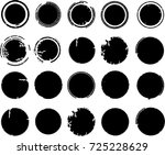grunge post stamps collection ... | Shutterstock .eps vector #725228629