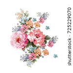 graceful flowers  the leaves...   Shutterstock . vector #725229070