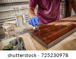 close up of a man with work... | Shutterstock . vector #725230978