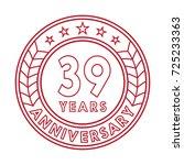 39 years anniversary logo... | Shutterstock .eps vector #725233363