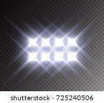 stadium glowing light. white... | Shutterstock .eps vector #725240506