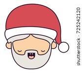 santa claus man kawaii eyes...   Shutterstock .eps vector #725242120