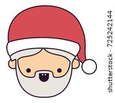 santa claus man kawaii face...   Shutterstock .eps vector #725242144