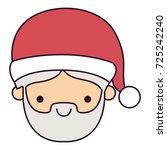 santa claus man kawaii face...   Shutterstock .eps vector #725242240