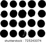 grunge post stamps collection ... | Shutterstock .eps vector #725243374