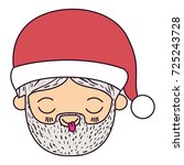 santa claus man kawaii face...   Shutterstock .eps vector #725243728