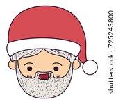 santa claus man kawaii face...   Shutterstock .eps vector #725243800
