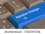 keyboard with key for  solution ... | Shutterstock . vector #725247256