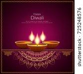abstract elegant happy diwali... | Shutterstock .eps vector #725248576